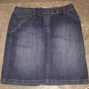 Ann Taylor Classic Denim Skirt